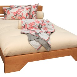 Toya Bed Base in Light Cedar