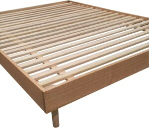 Bergen Bed Base, All Hardwood, Clear Lacquer, corner
