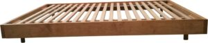 Bergen Bed Base, Plantation Pine with all hardwood slats, stained, side