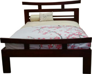 Emperor Bed Base - Dark Cedar