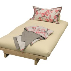 Oslo Futon Sofa Bed in bed position - angle