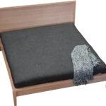 Windsor Bed Base, Hardwood, Natural Raw Timber Finish, Aerial