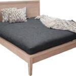 Windsor Bed Base, Hardwood, Natural Raw Timber Finish, Side